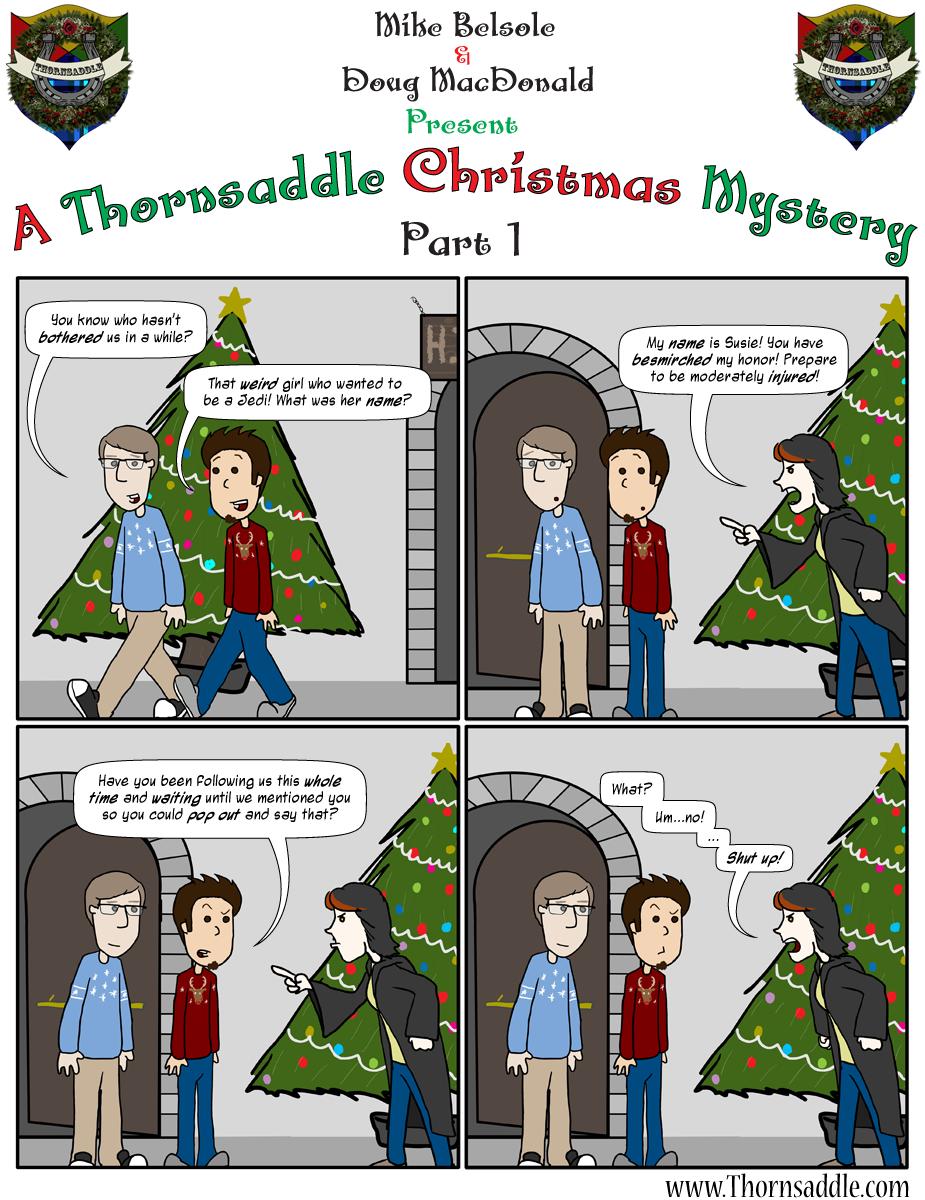 A Thornsaddle Christmas Mystery: Part 1